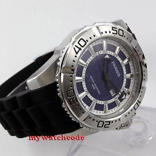 big sale 45mm Parnis blue dial 100m waterproof Men's Quartz diving Watch P436