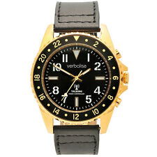 Verbalise Rol-X Men's Talking Global Radio Controlled Watch with Gold Case