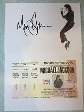 Bad Tour Milton Keynes Bowl 1988 Michael Jackson concert ticket UKwith autograph