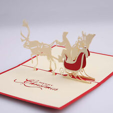 3D Greeting Card Christmas Pop Up Wedding Table Birthday Postcard Gift Craft DIY