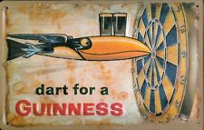 GUINNESS DART Vintage Metal Pub Sign | 3D Embossed Steel | Home Bar | Irish