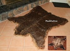 Lodge Brown Grizzly Bear 5' x 6' Throw Rug Cottage Area Rug