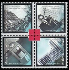 100 Years Of Banking Excellent Malaysia 2013 ATM Machine (stamp) Silver Foil MNH