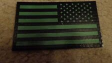 ARMY PATCH,,IFF, REVERSE U.S.FLAG, GREEN, WITH VELCR