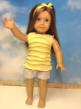 "American Girl 18"" DOLL Truly Me Light BLONDE/Red  Hair  Blue Eyes(7)"