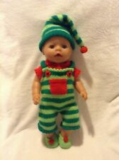 KNITTING PATTERN - Novelty Christmas Elf costume for 15 - 18 inch doll baby born