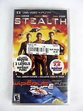 PSP UMD Video Steath NEW SEALED + Wipeout Pure 3 Levels