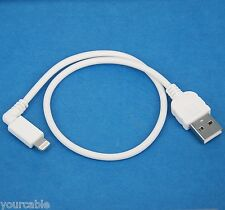 0.3m 1ft SHORT Fast Charging ONLY Right Angle USB cable WHITE for iPhone 5s 5c 5