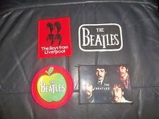 THE BEATLES ASSORTED 4 SEW ON PATCHES BADGES AS PICTURED ALL IN NEW CONDITION