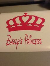 Daddy's Princess Wall Vinyl Die Cut Decal,girls Room,funny,decorate