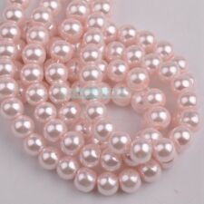 Bulk Wholesale 200~1000pcs 4mm 6mm 8mm Round Pearl Glass Loose Spacer Beads
