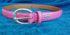 Ralph Lauren Leather Pink Belt Size Large Solid Brass Buckle