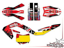 APRILIA SX RX 125, 08-15, FULL factory racing decals sticker graphics dekor kit