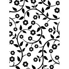 * Darice Embossing Folder FLOWERS & VINES Leaves  NEW! Card Making A2 1218-115