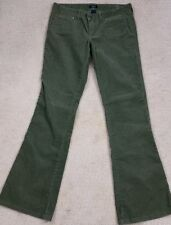 """Abercrombie & Fitch Womens Loose Bootcut Mid Rise Green Corduroy Jeans 6 x 32"""""""