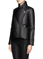 Helmut Lang Black Leather Puffer/Down Jacket Size L NWT Retail $1,425
