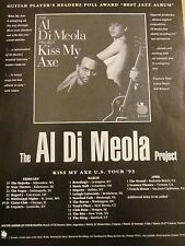 Al Di Meola Project, Kiss My Axe, Full Page Promotional Print Ad