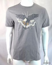 Lucky Brand Men's T shirt XL Naval Eagle Graphic tee S/S Gray 060 NEW NWT
