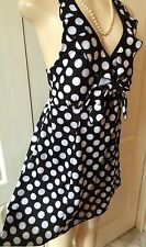 WOMENS PLUS SWIM SUIT 1X ONE PIECE NEW BLACK DOT SWIMDRESS XL 16 NWT CUTE DEAL