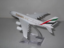 16cm Airbus A380 Emirates Airlines Die Cast Metal Desk Aircraft Plane Model UK