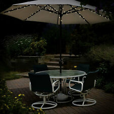 60 LED SOLAR POWERED GARDEN PARASOL UMBRELLA CHAIN LIGHT 6 STRUT FAIRY LIGHTS
