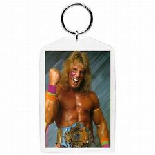 WWE WWF Wrestler Ultimate Warrior Collectible Glass Keychain #7
