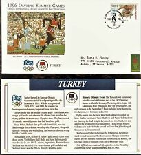 TURKEY FIRST DAY COVER 1996 OLYMPIC GAMES