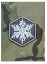 Morale Patch - Milspec Monkey - UNIQUE Little SNOWFLAKE - PVC Light GREY version