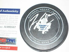 TYLER BOZAK Signed Toronto MAPLE LEAFS Official GAME Puck w/ PSA COA
