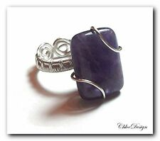 diy pdf tutorial Wire Wrapping Jewelry Amethyst Ring,casual,wedding,Wicca