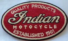 Indian Motocycle Quality Products Est 1901 embroidered cloth patch. H010702