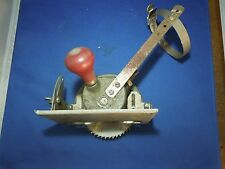 Vintage Fedco Circular Hand Buzz Saw with Drill Attachment