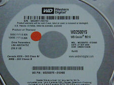 250 gb de Western Digital wd2500ys-01shb0/dbbhct 2ahn/sep 2006/2060-701335-005