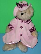 """Cute Heritage Collection Bear Channel Pink Dress Coat Hat Ganz Plush Stuffed 13"""""""