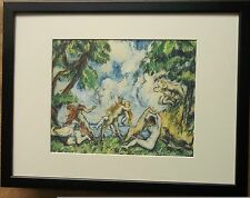 Framed 12''x16'', The Struggle of Love by Paul Cezanne, master paintings