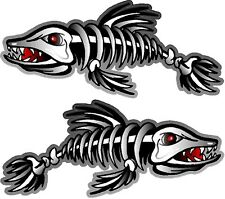 """2 - 9"""" x 21"""" Fish Bone Decals Stickers (Fishing Boat Graphics Tackle) 1500.9"""