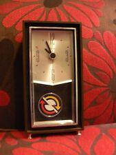 Vintage Mid Century Modern Sunbeam Electric Clock w/ Floating Pendulum Arrows