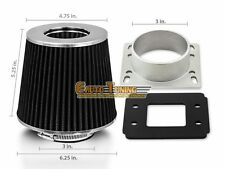 Mass Air Flow Sensor Intake Adapter +BLACK Filter For 86-89 RX-7 1.3 R2 NA/Turbo