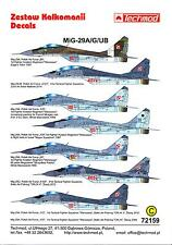Techmod Decals 1/72 MIKOYAN MiG-29A MiG-29G & MiG-29UB FULCRUM Polish Air Force