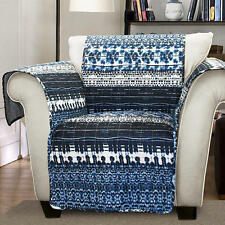Forever New Arm Chair Cover Lambert Tie Dye Furniture Protectors Navy MSRP 69.99