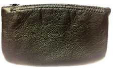 Black Vinyl Full Size Tobacco Pouch with Zipper Holds 2 oz Pipe Tobacco - 1168