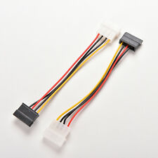 2 Pcs 4-Pin IDE Molex to 15-Pin Serial ATA SATA Hard Drive Power Adapter Cable