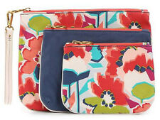 New Fossil Cosmetic Bag Triple Pouch Floral Bags Zip Organizer SWL1327919 NWT