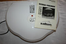 George Foreman Model GR15 White Grilling Machine with Owner's Manual