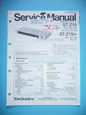 Service-Manual per Technics st-z15, ORIGINALE