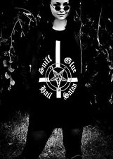 Sniff Glue Hail Satan - T-Shirt S-L - Black Metal, Marduk, Darkthrone, Urfaust