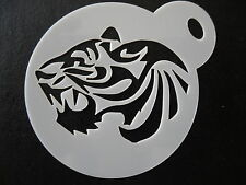 Laser cut small tiger head design cake, cookie,craft & face painting stencil
