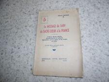 1942.Message de 1689 du sacré-Coeur de la France.Exorcisme.Salgas