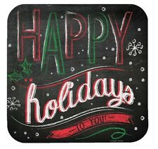 """Chalk Messages """"Happy Holidays to You"""" 8 Ct 9"""" Dinner Lunch Plates Party Supplie"""