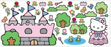 HELLO KITTY CASTLE wall stickers MURAL over 30 decals room decor cat